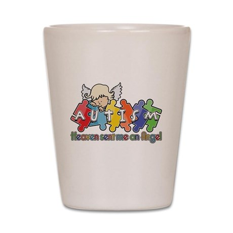 Autism Heaven SentMeAnAngel Shot Glass