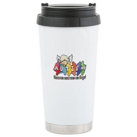 Autism Heaven SentMeAnAngel Ceramic Travel Mug