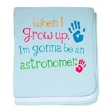 Future Astronomer Kids baby blanket