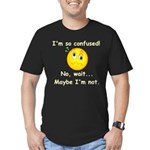 I'm So Confused... Men's Fitted T-Shirt (dark)