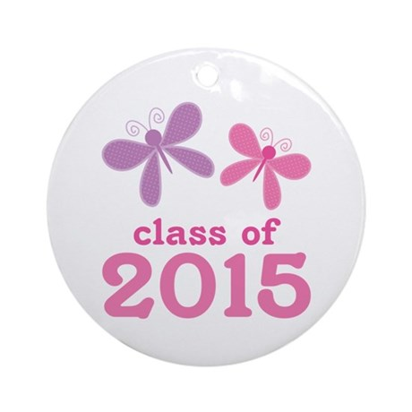 2015 Girls Graduation Ornament (Round)