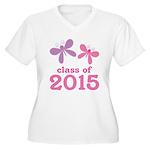 2015 Girls Graduation Women's Plus Size V-Neck T-S