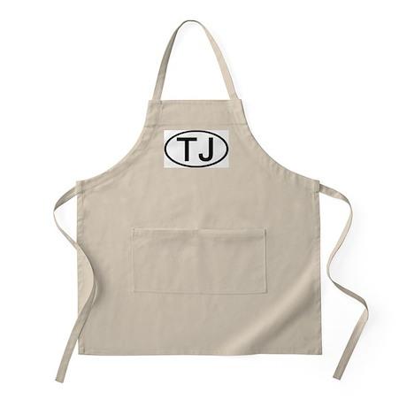 TJ - Initial Oval BBQ Apron