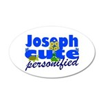 Cute Joseph 38.5 x 24.5 Oval Wall Peel