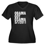 Obama Got Osama Women's Plus Size V-Neck Dark T-Sh