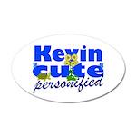 Cute Kevin 38.5 x 24.5 Oval Wall Peel
