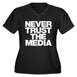 Never Trust The Media Women's Plus Size V-Neck Dar
