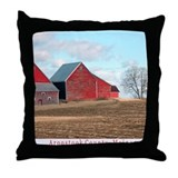 Bridgewater barn mud season Throw Pillow