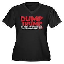 Dump Trump 2012 Women's Plus Size V-Neck Dark T-Sh