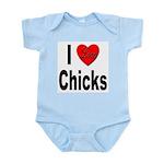 I Love Chicks Infant Creeper