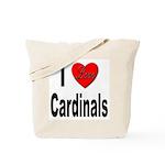 I Love Cardinals Tote Bag