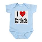 I Love Cardinals Infant Creeper