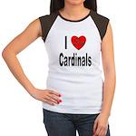 I Love Cardinals (Front) Women's Cap Sleeve T-Shir