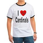 I Love Cardinals (Front) Ringer T