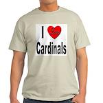 I Love Cardinals (Front) Ash Grey T-Shirt