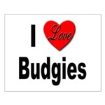I Love Budgies Small Poster