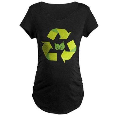 Recycle Environment Maternity Dark T-Shirt