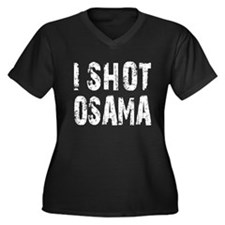 I Shot Osama Women's Plus Size V-Neck Dark T-Shirt