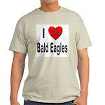 I Love Bald Eagles (Front) Ash Grey T-Shirt