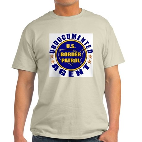 Undocumented Border Patrol Agent Ash Grey T-Shirt