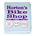 Horton's Bike Shop baby blanket