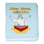 Beer Pong God baby blanket