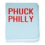 Phuck Philly 2 baby blanket