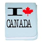 I Heart Canada baby blanket