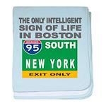 Boston Intelligence baby blanket