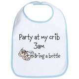"""Party at my crib"" Baby Bib"