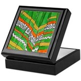 Folkorico Green Skirt Keepsake Box