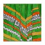 Folkorico Green Skirt Tile Coaster