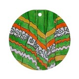 Folkorico Green Skirt Ornament (Round)