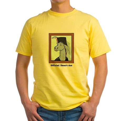 Official Smart Ass Yellow T-Shirt