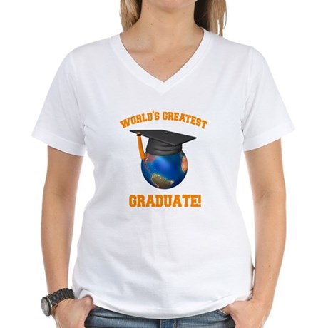 World's Greatest Graduate Women's V-Neck T-Shirt