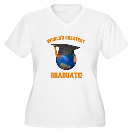 World's Greatest Graduate Women's Plus Size V-Neck