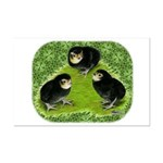 Baby Chicks in the Garden Mini Poster Print