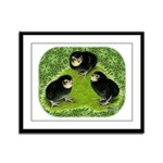 Baby Chicks in the Garden Framed Panel Print