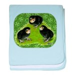 Baby Chicks in the Garden baby blanket