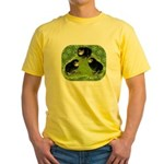 Baby Chicks in the Garden Yellow T-Shirt