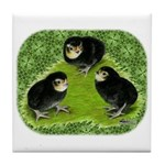 Baby Chicks in the Garden Tile Coaster