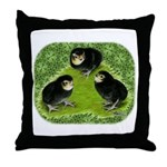 Baby Chicks in the Garden Throw Pillow