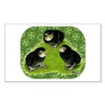 Baby Chicks in the Garden Sticker (Rectangle)