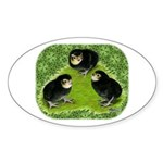 Baby Chicks in the Garden Sticker (Oval 10 pk)
