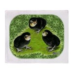 Baby Chicks in the Garden Throw Blanket