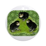 Baby Chicks in the Garden Ornament (Round)