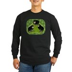 Baby Chicks in the Garden Long Sleeve Dark T-Shirt
