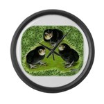 Baby Chicks in the Garden Large Wall Clock