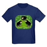 Baby Chicks in the Garden Kids Dark T-Shirt