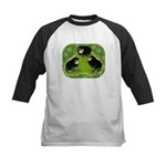 Baby Chicks in the Garden Kids Baseball Jersey